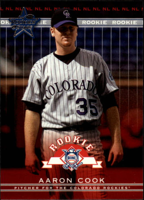 2002 Leaf Rookies and Stars #364 Aaron Cook RS RC