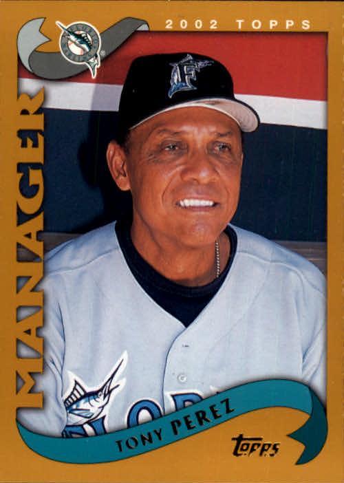 2002 Topps #303 Tony Perez MG