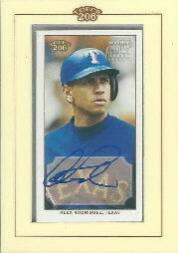 2002 Topps 206 Autographs #AR Alex Rodriguez A1