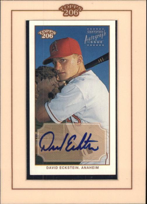 2002 Topps 206 Autographs #DE David Eckstein G3