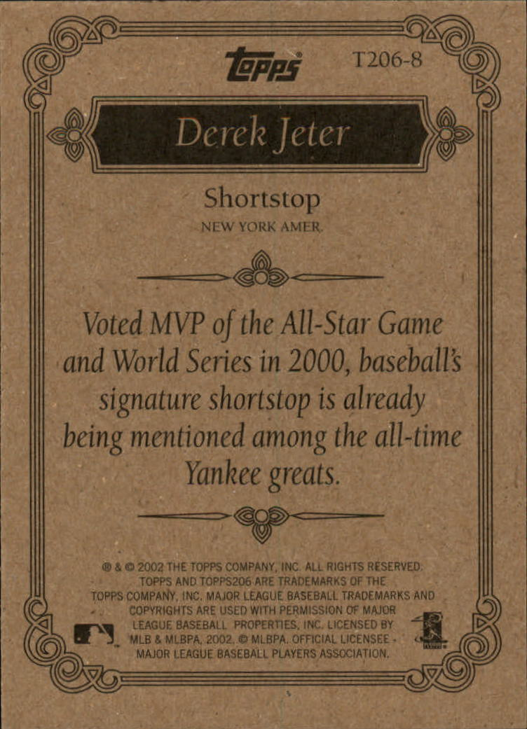 2002 Topps 206 Team 206 Series 1 #T2068 Derek Jeter back image