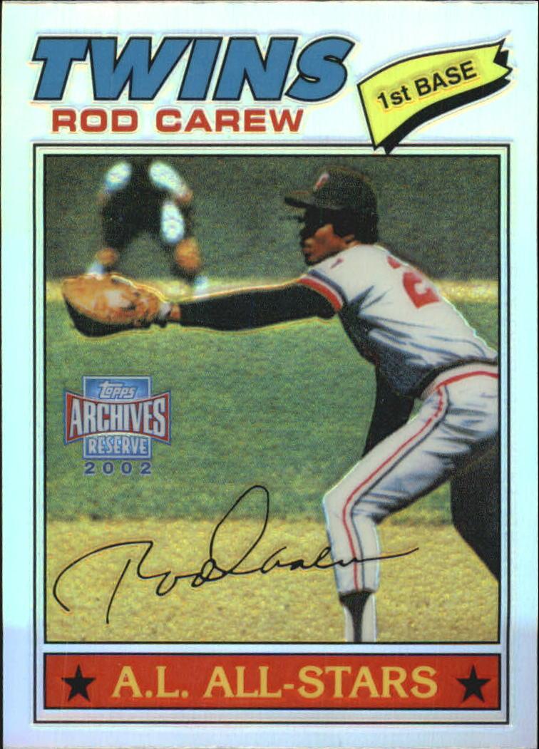 2002 Topps Archives Reserve #6 Rod Carew 77