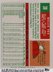 2002 Topps Archives Reserve #12 Nellie Fox 59 back image