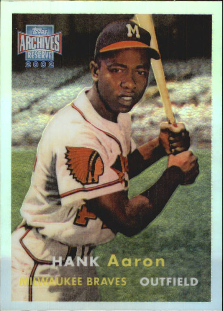 2002 Topps Archives Reserve #61 Hank Aaron 57
