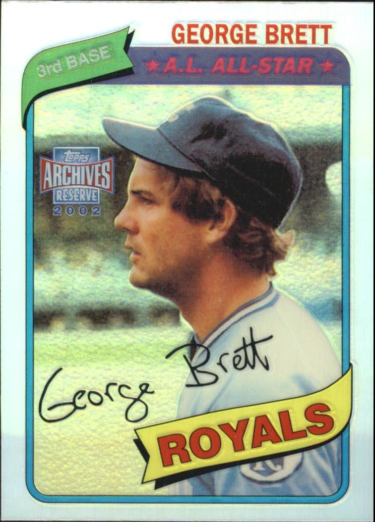 2002 Topps Archives Reserve #70 George Brett 80