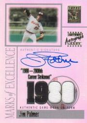 2002 Topps Tribute Marks of Excellence Autograph Relics #JP Jim Palmer Uni
