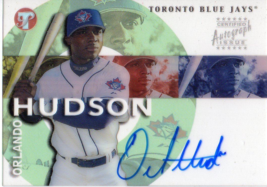 2002 Topps Pristine Personal Endorsements #OH Orlando Hudson D