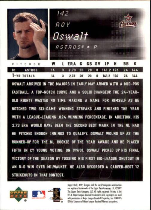 2002 Upper Deck MVP #142 Roy Oswalt back image