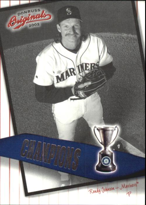 2002 Donruss Originals Champions #5 Randy Johnson