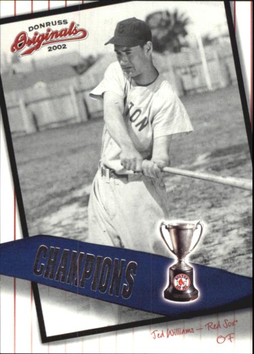 2002 Donruss Originals Champions #15 Ted Williams