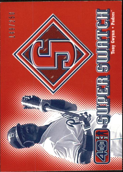 2002 Upper Deck 40-Man Super Swatch #STG Tony Gwynn