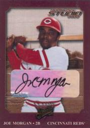 2002 Studio Classic Autographs #8 Joe Morgan/20