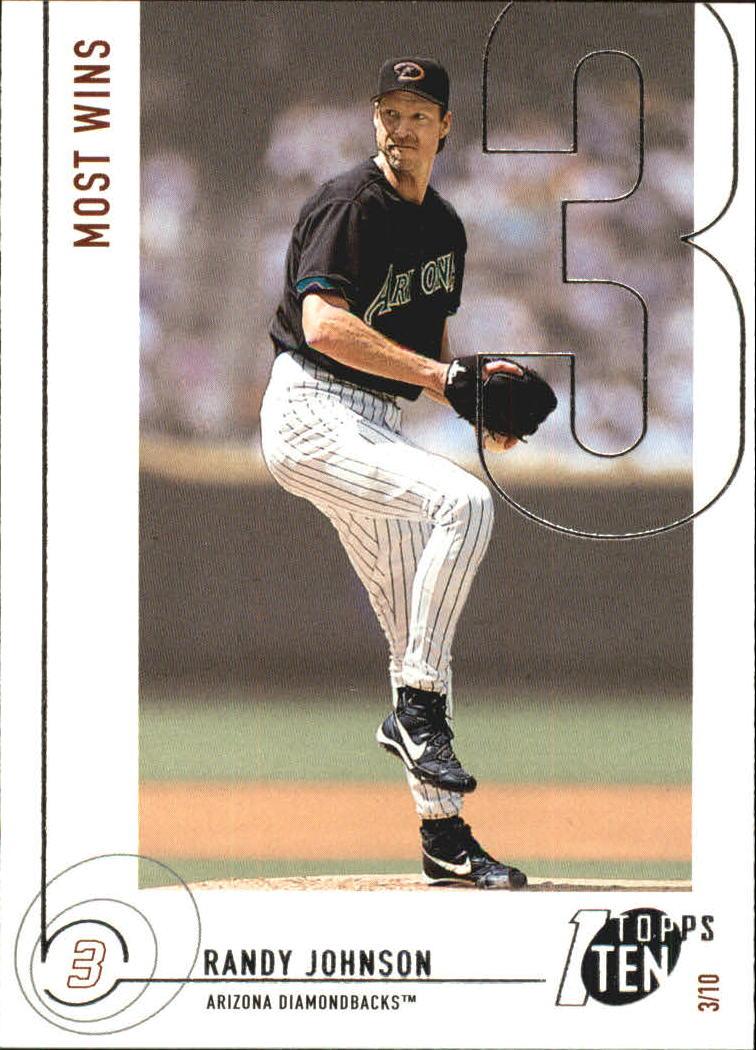 2002 Topps Ten #133 Randy Johnson WINS