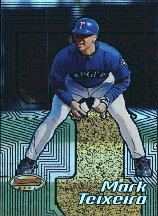 2002 Bowman's Best Blue #65 Mark Teixeira