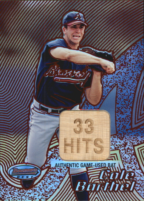 2002 Bowman's Best Red #93 Cole Barthel Bat