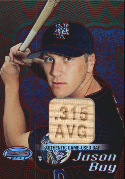 2002 Bowman's Best Red #107 Jason Bay Bat