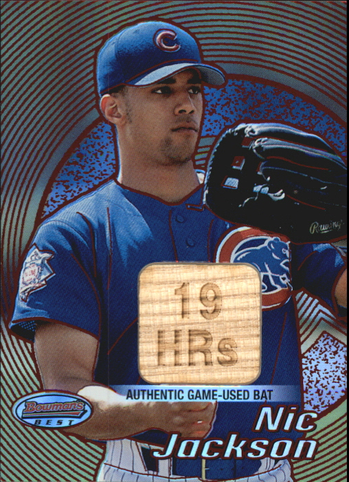 2002 Bowman's Best Red #115 Nic Jackson Bat