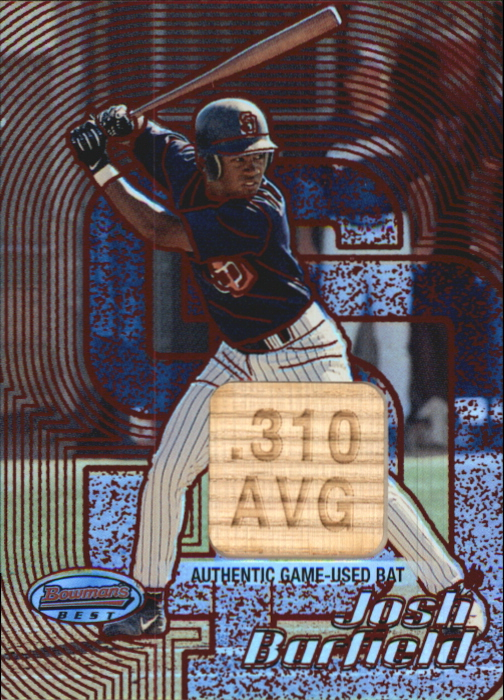 2002 Bowman's Best Red #128 Josh Barfield Bat