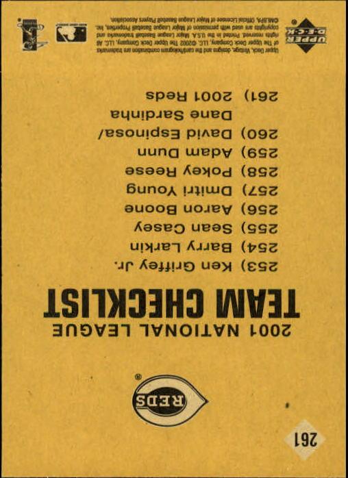 2002 Upper Deck Vintage #261 Ken Griffey TC back image