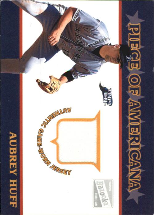 2003 Bazooka Piece of Americana Relics #AH Aubrey Huff F