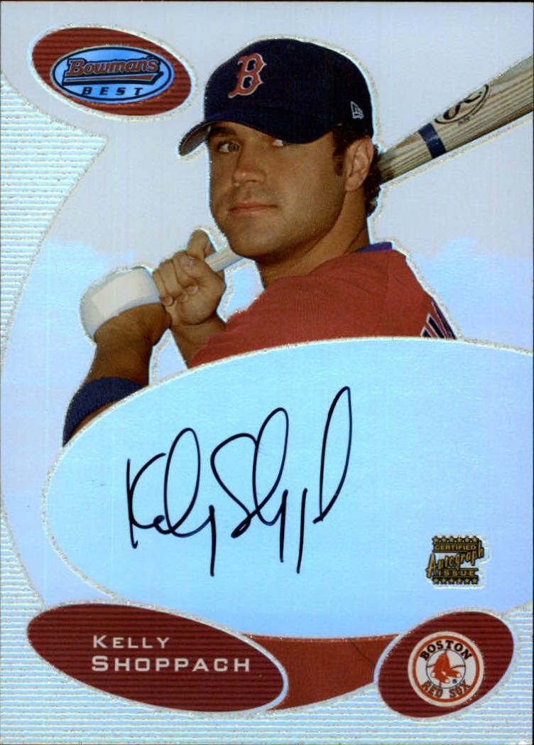 2003 Bowman's Best #KS Kelly Shoppach FY AU RC