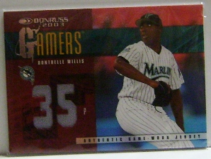 2003 Donruss Gamers Jersey Number #49 Dontrelle Willis