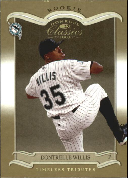 2003 Donruss Classics Timeless Tributes #207 Dontrelle Willis ROO