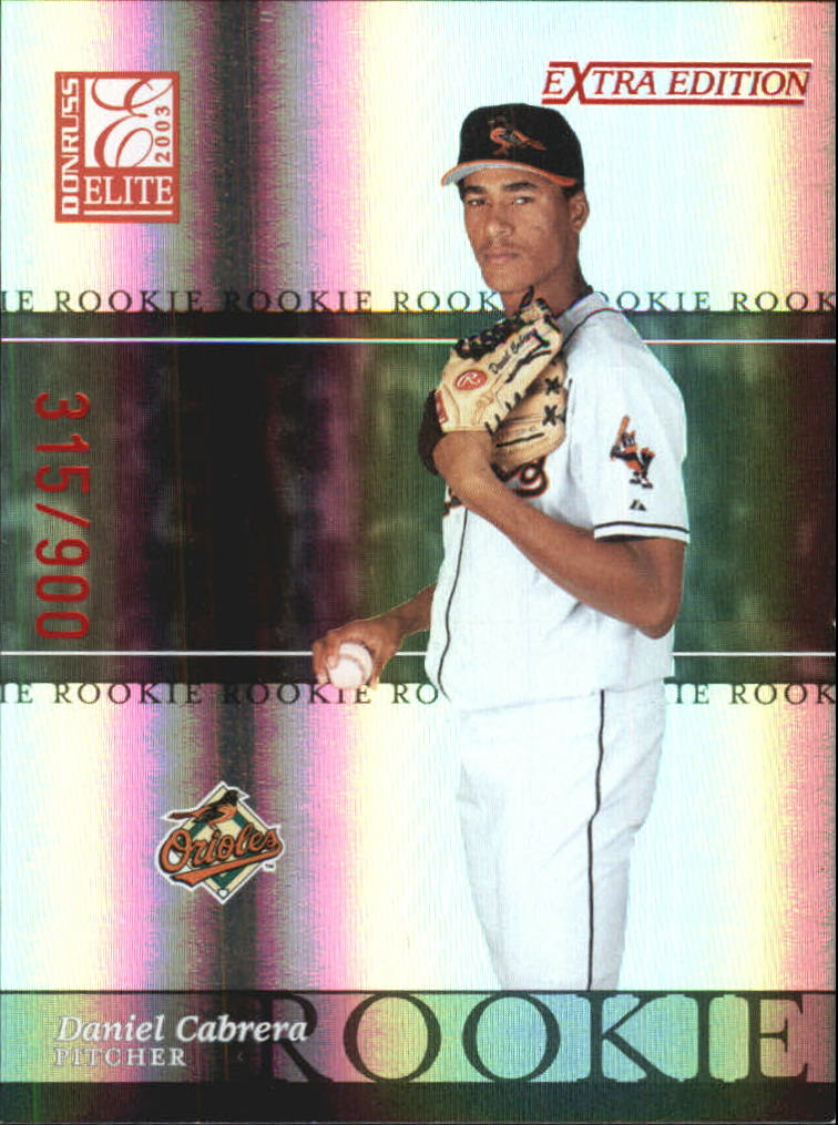 2003 Donruss Elite Extra Edition #13 Daniel Cabrera RC