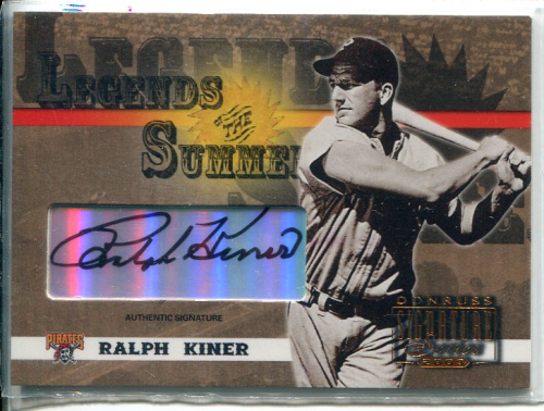 2003 Donruss Signature Legends of Summer Autographs #29 Ralph Kiner