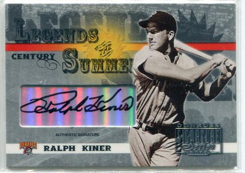 2003 Donruss Signature Legends of Summer Autographs Century #29 Ralph Kiner