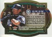 2003 Fleer Authentix Ballpark Classics #10 Ichiro Suzuki back image