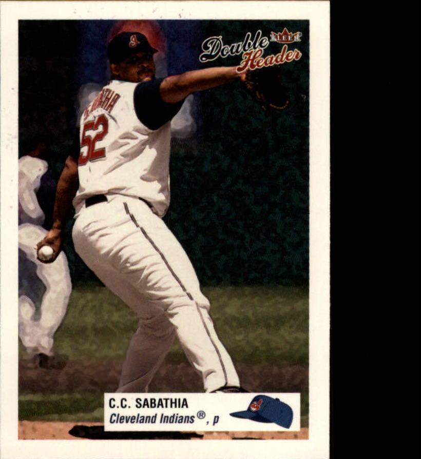 Details About 2003 Fleer Double Header Baseball Card 126 Cc Sabathia