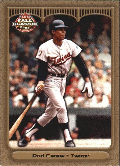 2003 Fleer Fall Classics Championship Gold #1 Rod Carew