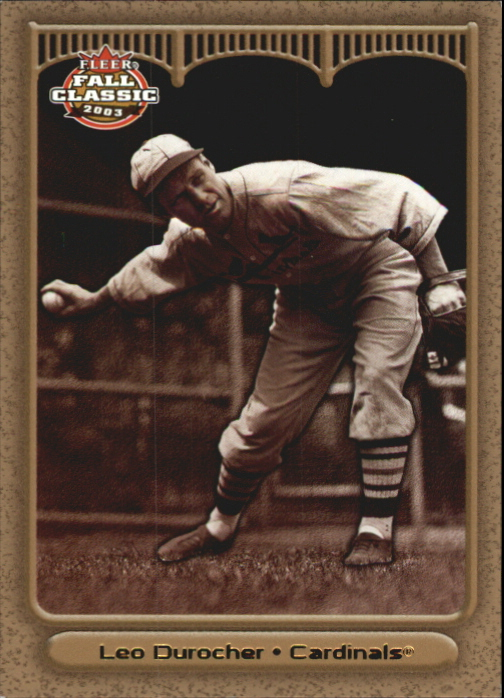 2003 Fleer Fall Classics Championship Gold #50B Leo Durocher Giants
