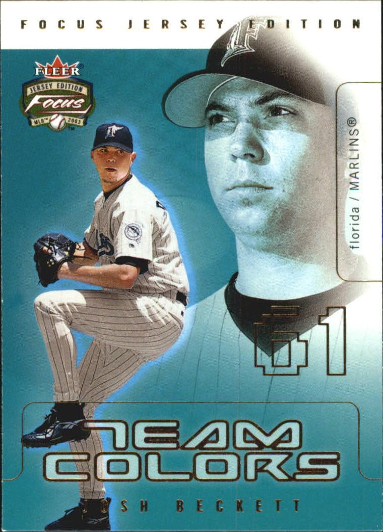 2003 Fleer Focus JE Team Colors #6 Josh Beckett