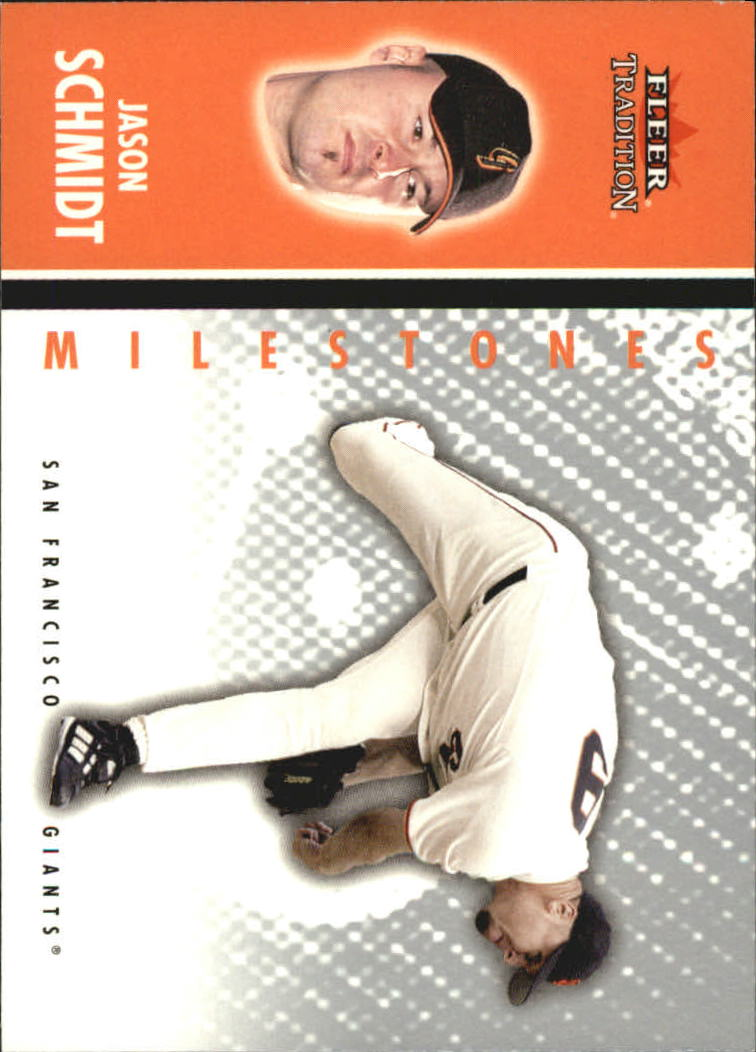 2003 Fleer Tradition Update Milestones #19 Jason Schmidt