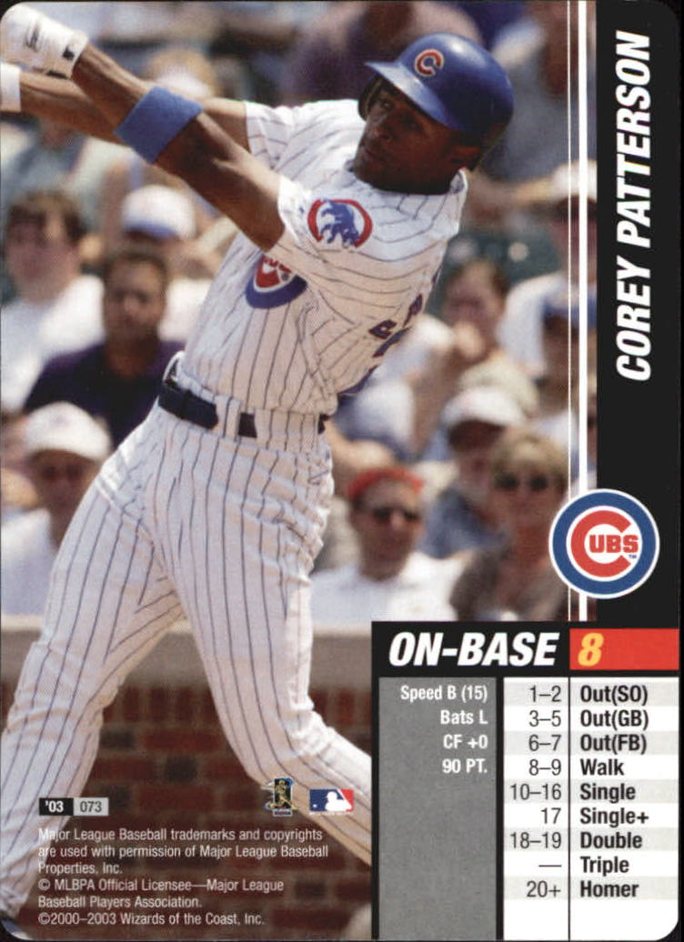 2003 MLB Showdown #73 Corey Patterson