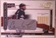 2003 Playoff Piece of the Game Autographs #22 Carlos Lee Bat