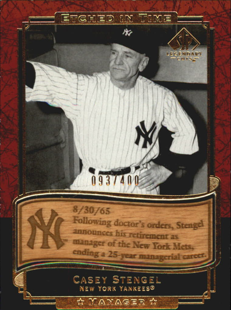 2003 SP Legendary Cuts Etched in Time 400 #CS Casey Stengel