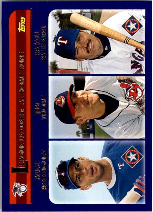 2003 Topps #339 AL Home Runs LL