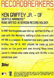 2003 Topps Record Breakers #KG1 Ken Griffey Jr. 1 back image