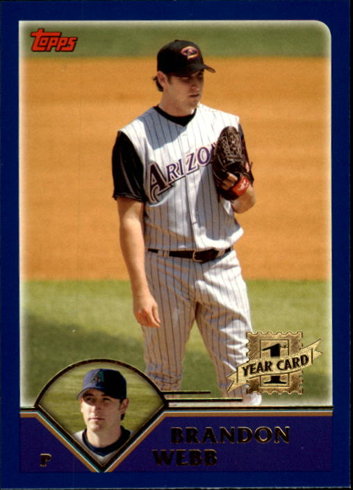 2003 Topps Traded #T169 Brandon Webb FY RC