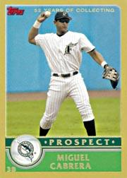 2003 Topps Traded Gold #T126 Miguel Cabrera PROS