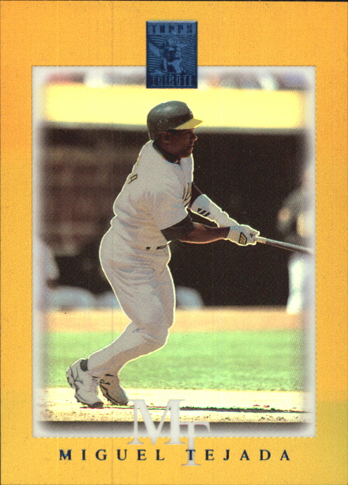 2003 Topps Tribute Contemporary Gold #80 Miguel Tejada