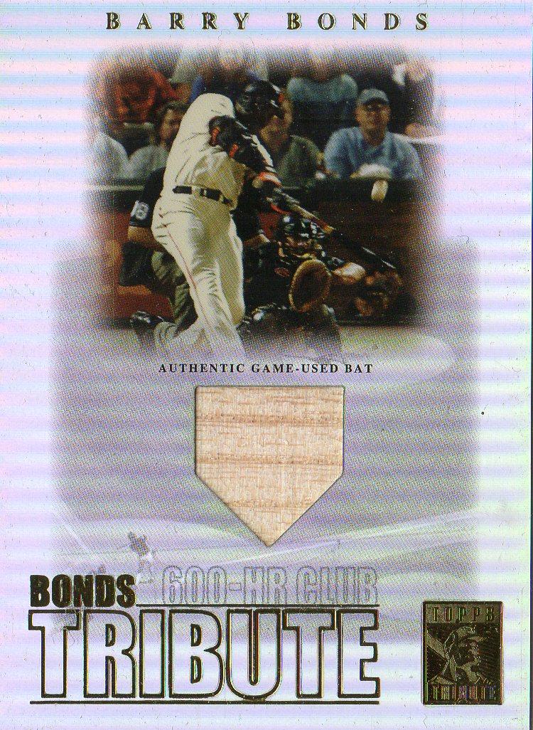 2003 Topps Tribute Contemporary Bonds Tribute 600 HR Club Relics #BB Barry Bonds Bat