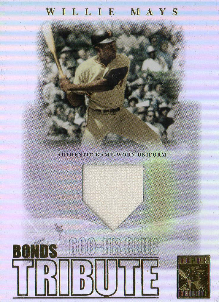 2003 Topps Tribute Contemporary Bonds Tribute 600 HR Club Relics #WM Willie Mays Uni
