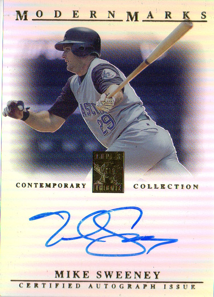 2003 Topps Tribute Contemporary Modern Marks Autographs #MS Mike Sweeney