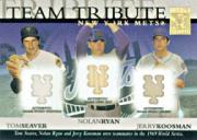 2003 Topps Tribute World Series Team Tribute Relics #SRK Tom Seaver Uni/Nolan Ryan Bat/Jerry Koosman Jsy B