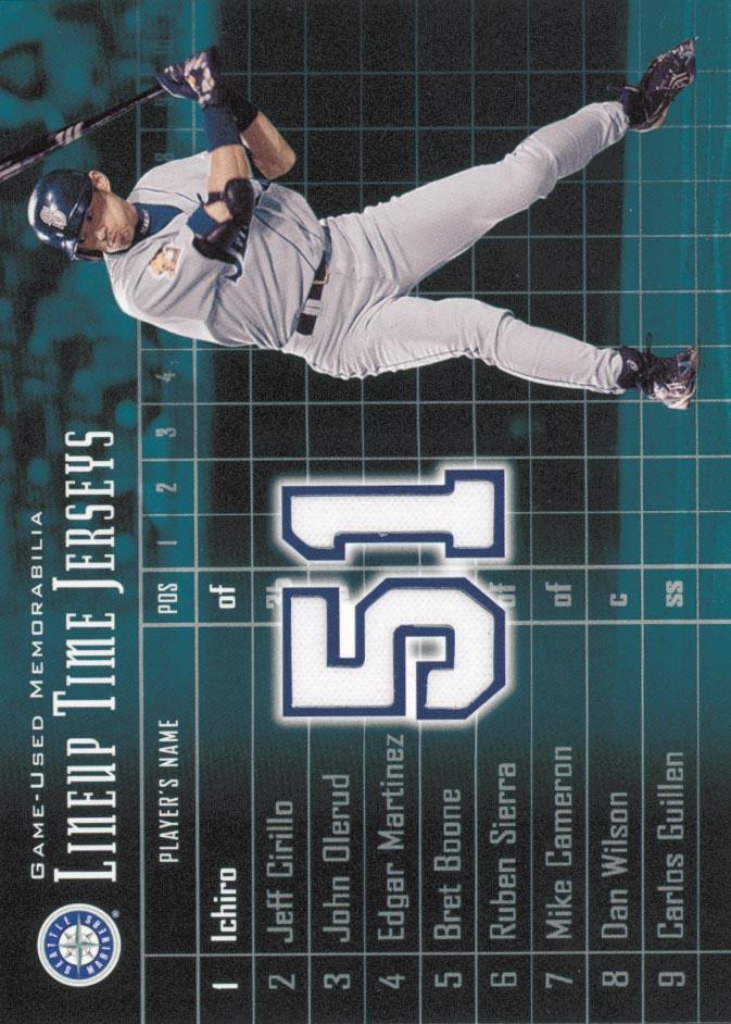 2003 Upper Deck Lineup Time Jerseys #IS Ichiro Suzuki