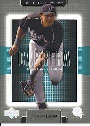 2003 Upper Deck Finite #51 Miguel Cabrera